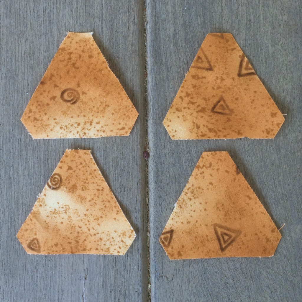 piecesyellow triangles